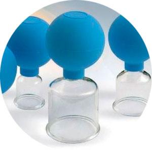 Tratamiento de Fisioterapia mediante ventosa o cupping
